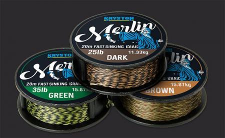 Merlin Fast Sinking Supple Braid 25lb x 20m Weed Green (KR-ME7)