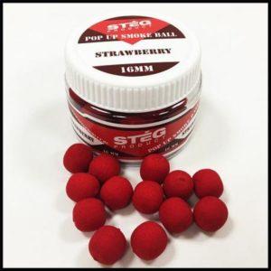 Steg POP UP SMOKE BALL 16mm STRAWBERRY 40gr (SP171602)