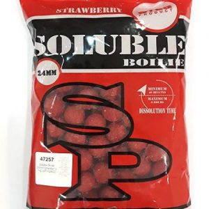 Steg SOLUBLE BOILIE 24mm STRAWBERRY 1kg (SP112402)