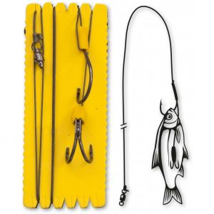 Black Cat BOUY AND BOAT GHOST DOUBLE HOOK RIG 4336124