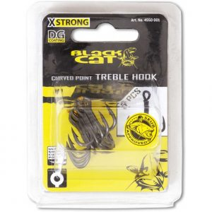 Black Cat CURVED POINT TREBLE HOOK DG