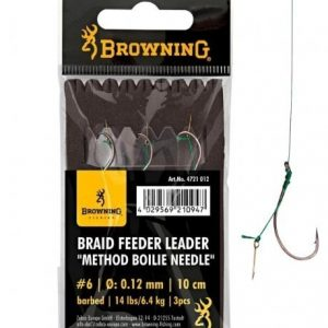 Browning BRAID FEEDER LEADER METHOD BOILIE NEEDLE BRONZE