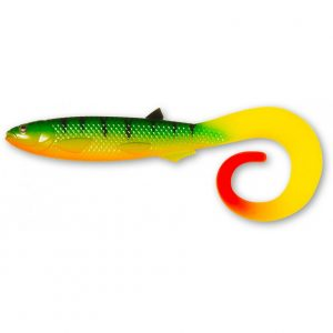Quantum YOLO CURLY SHAD 36gr 21cm FIRETIGER HOT TAIL